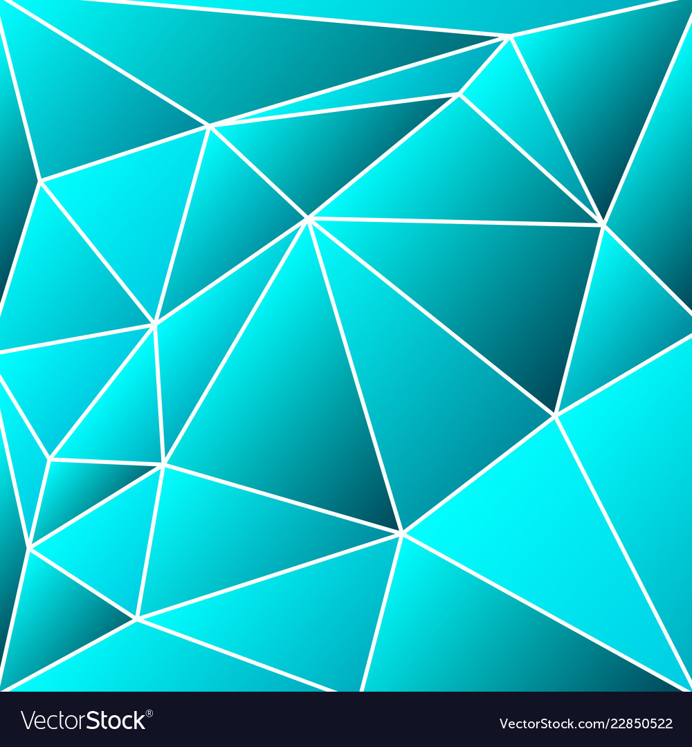 Abstract vitrage - triangular shades of azure grid