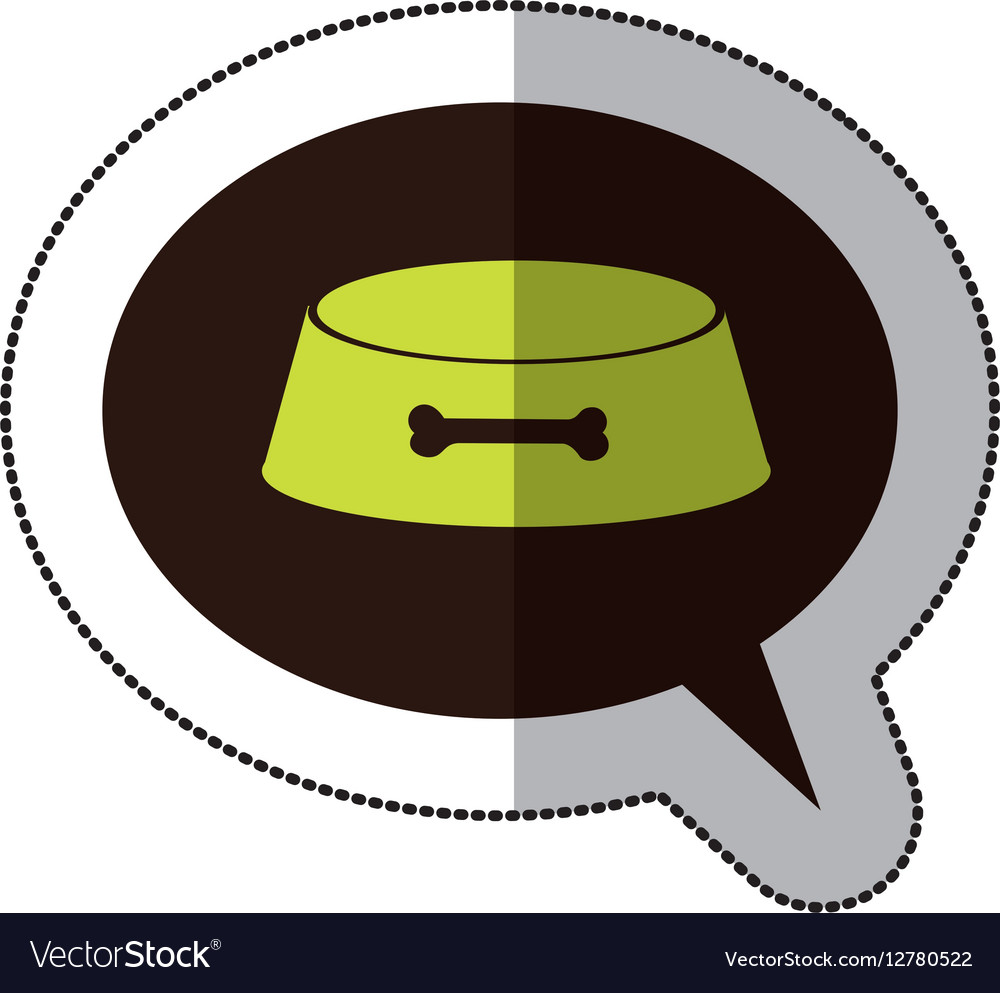 Colorful middle shadow sticker and dialogue sphere vector image