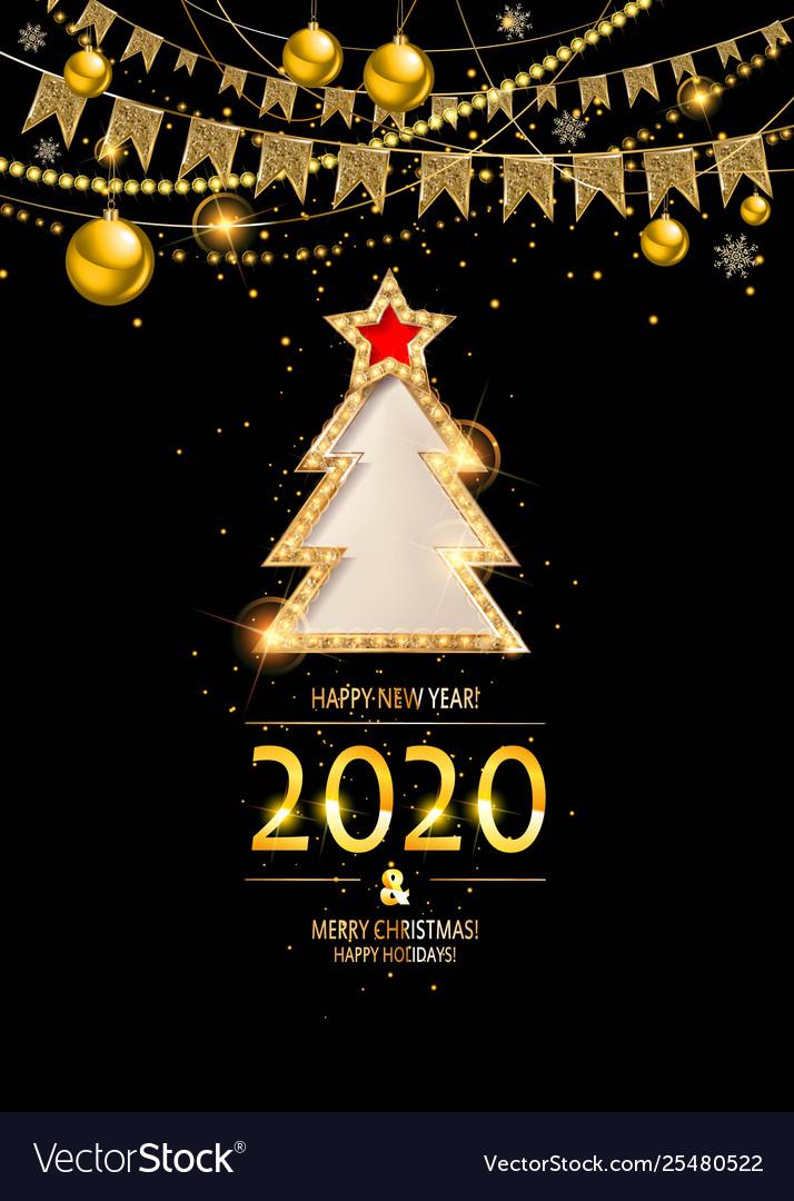 Gold ew year 2020 background