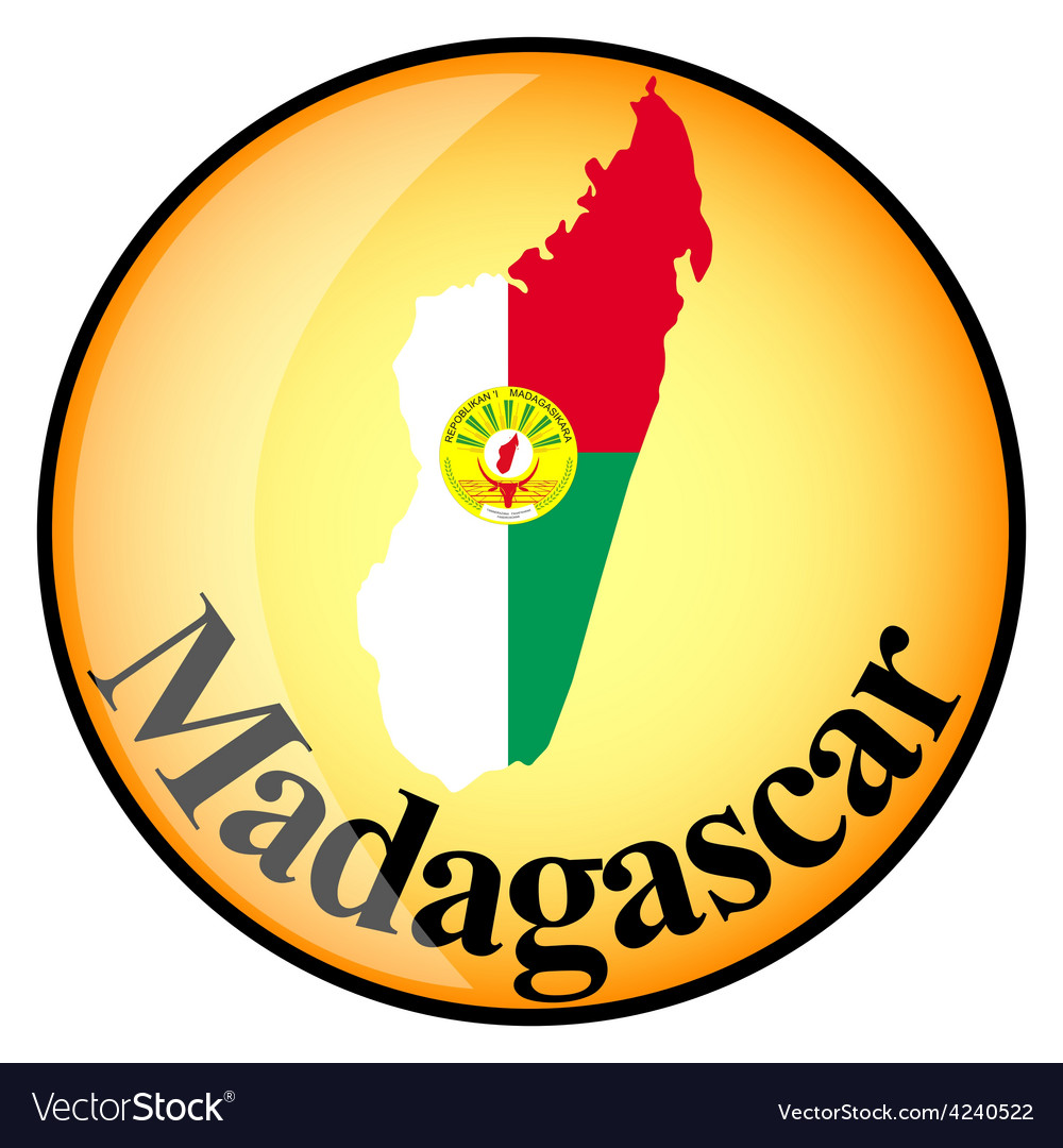 Orange button with the image maps of Madagascar