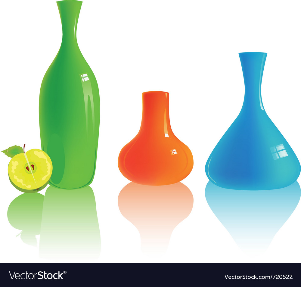Set Of Diffe Colorful Vases Vector Image