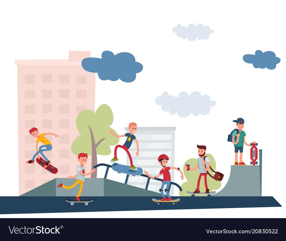 Skateboarder active people park sport extreme