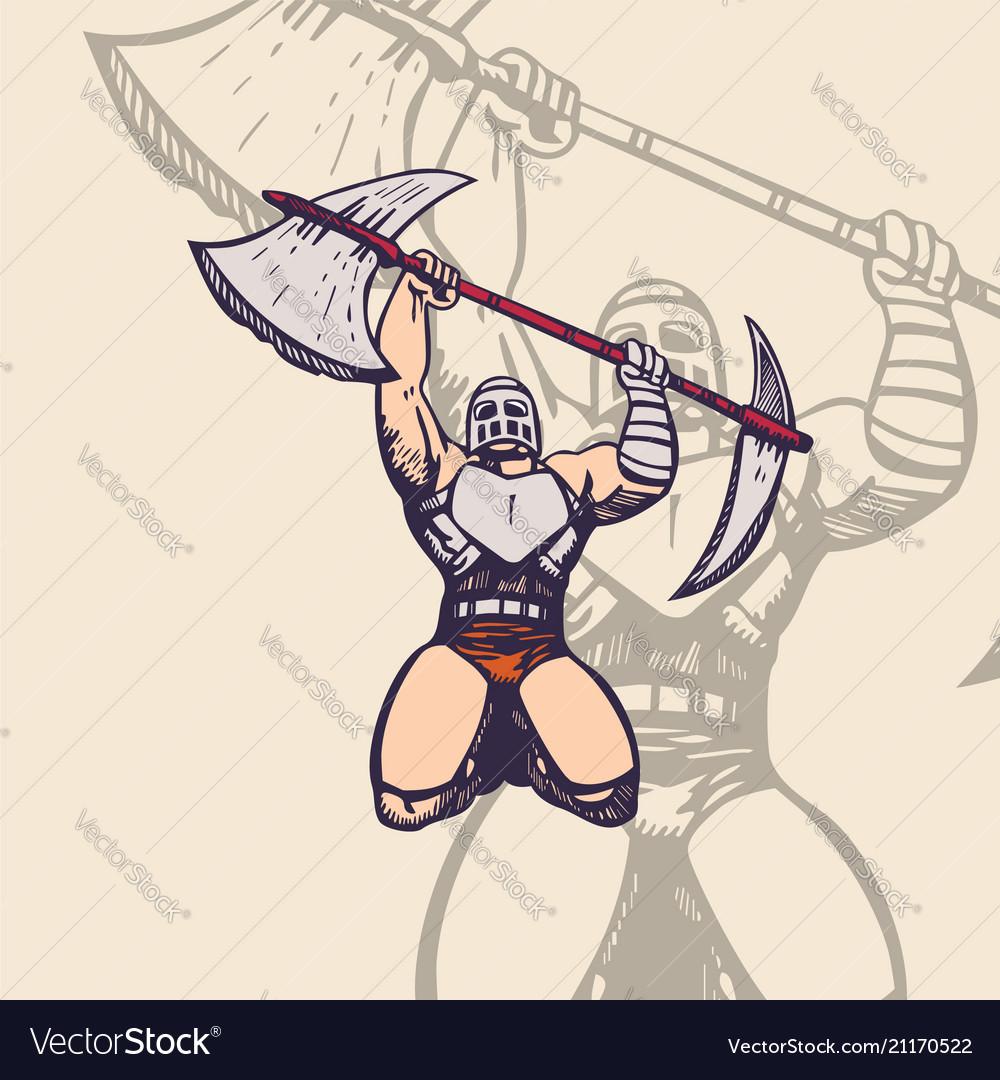 Trojan army mascot cartoon character