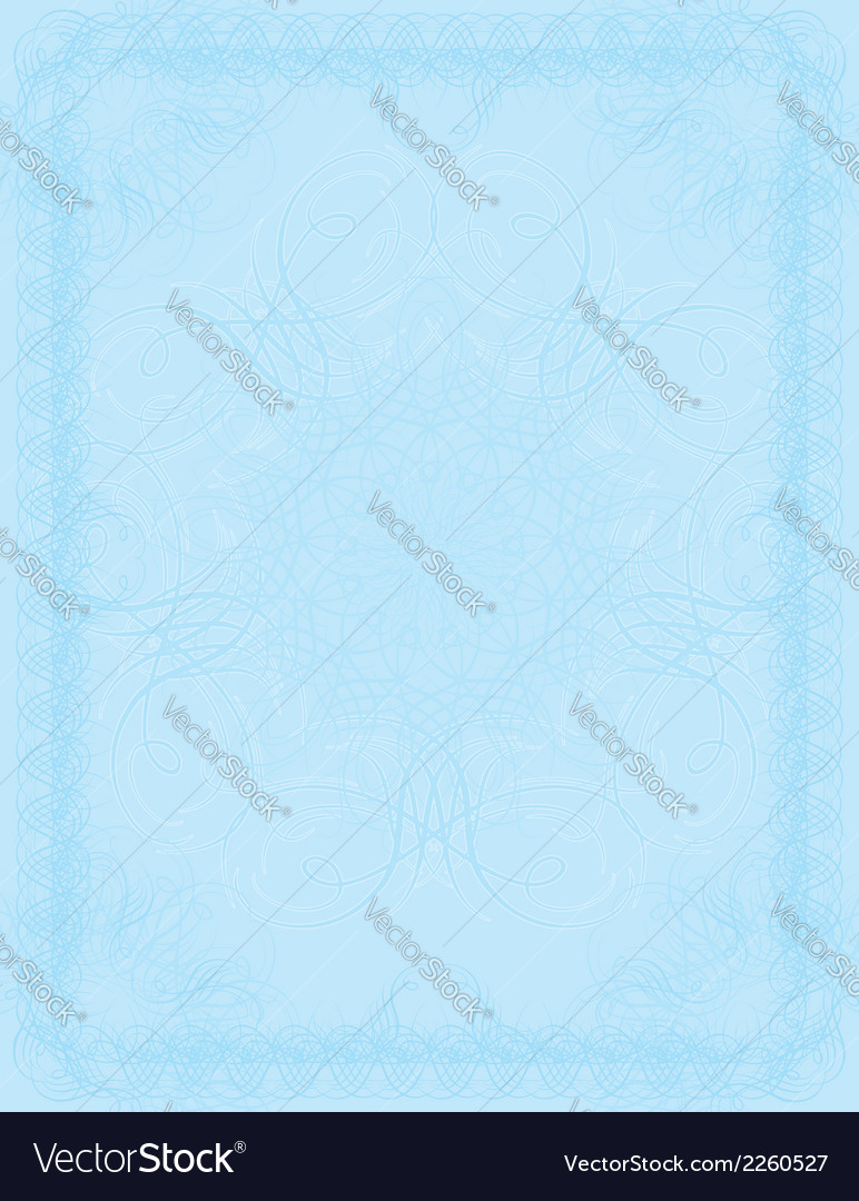 Blue certificate background vector image