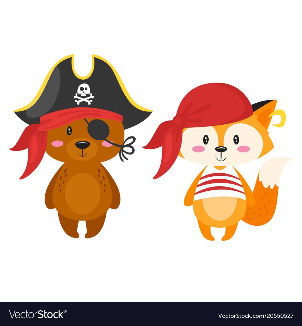 Characters in pirate costumes