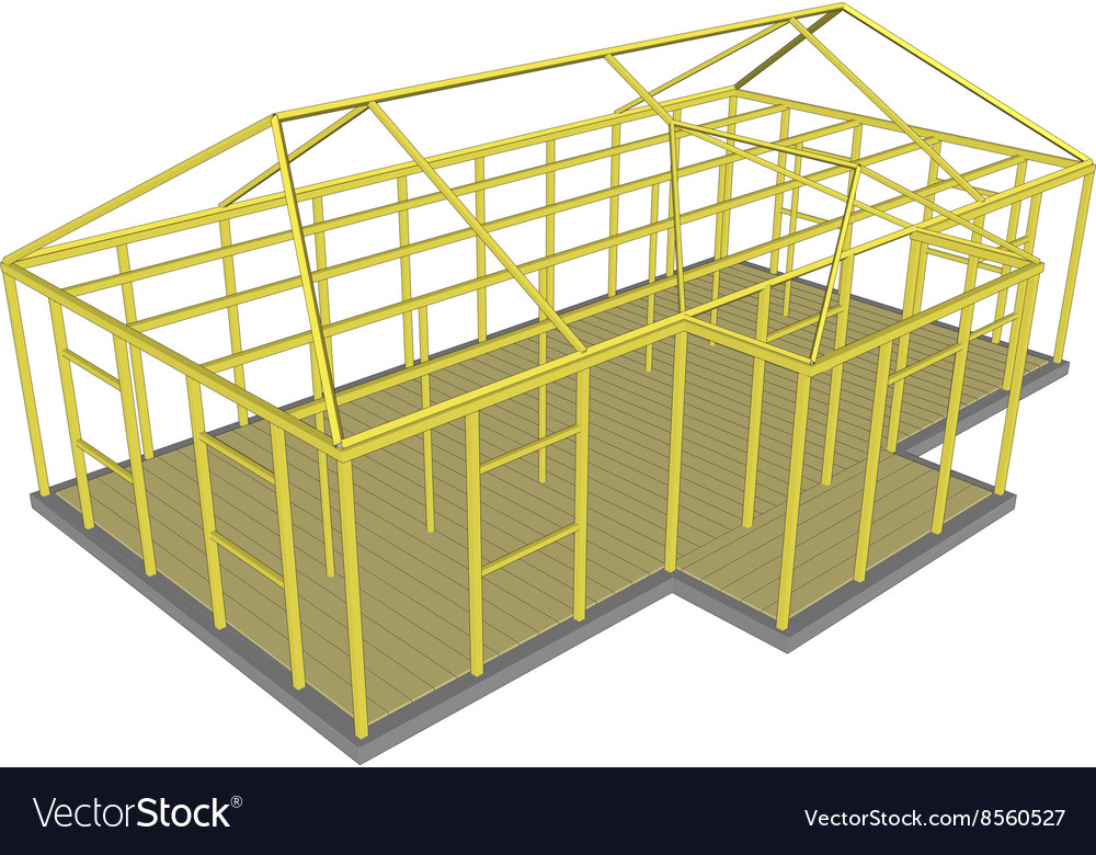 Construction Process tools and materials building vector image