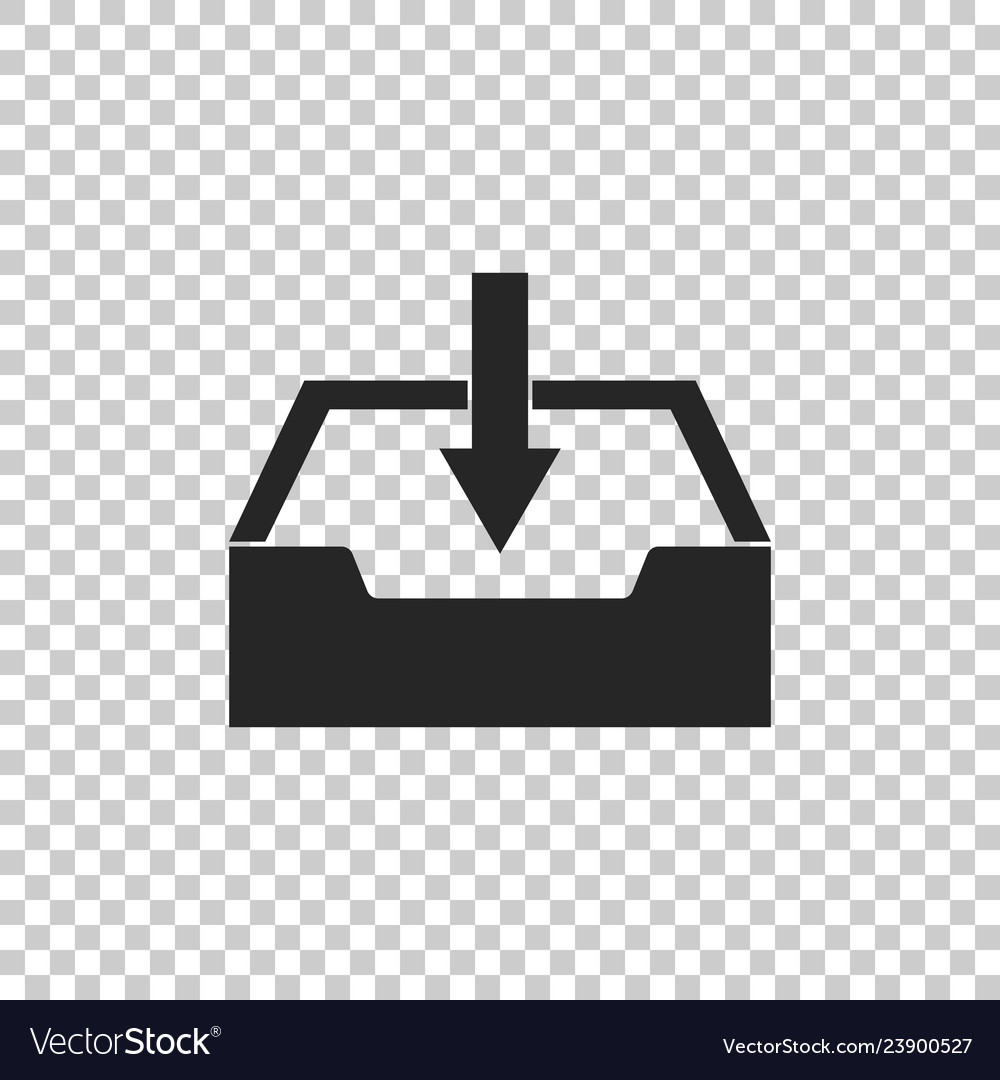 Download Inbox Icon On Transparent Background Vector Image