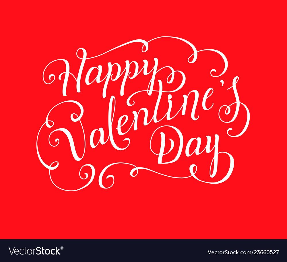 Lettering design for valentines day