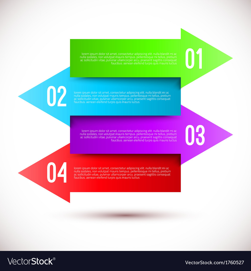 Modern business infographics arrow template