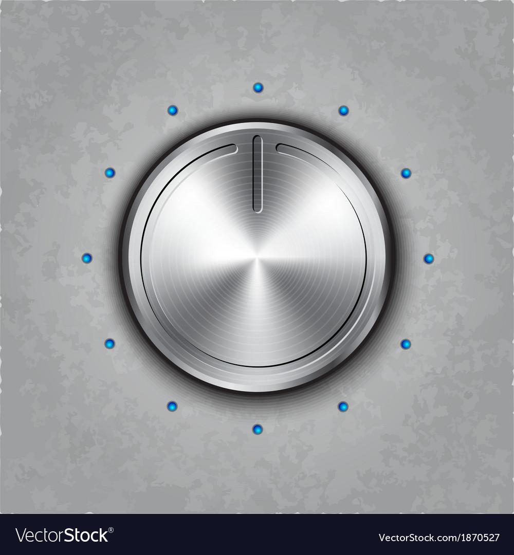 Round metal power button