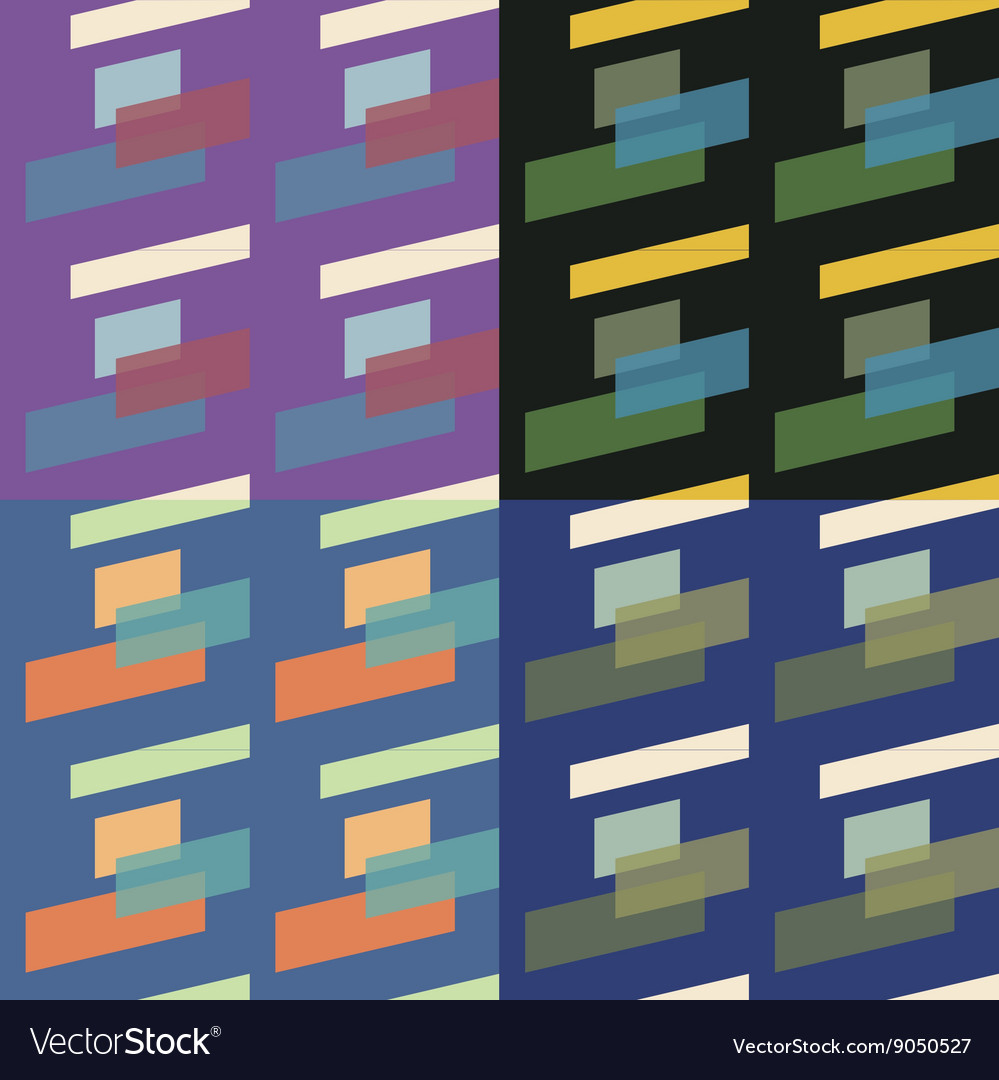 Set Of 4 Seamless Pattern vector image