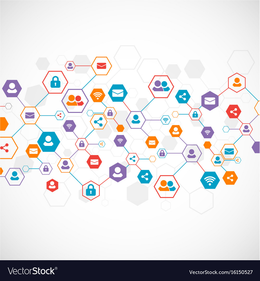 social media background network concept royalty free vector