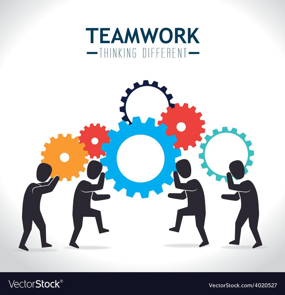 Teamwork design vector art - Download Social vectors - 4020527