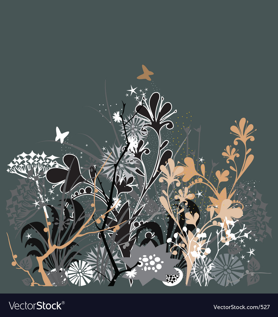 Twilight in my garden vector image