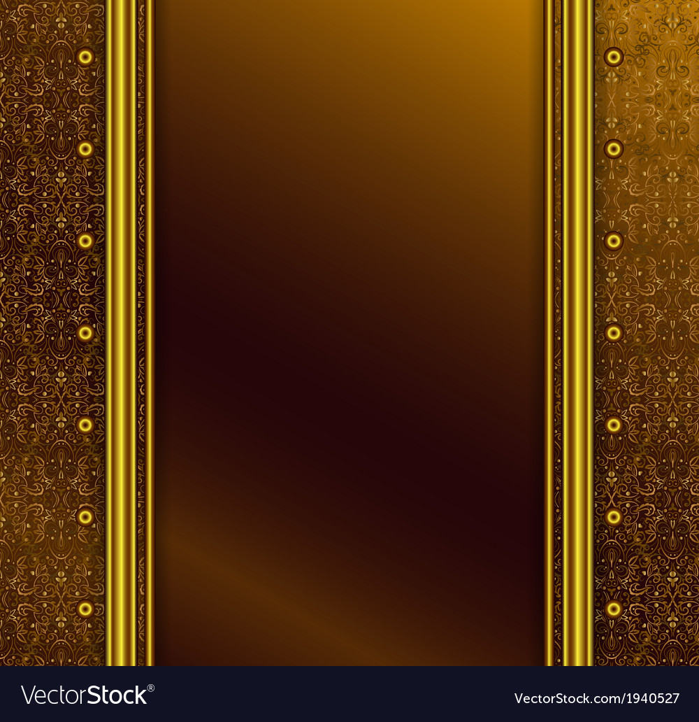 Vintage seamless wallpaper with a ribbon
