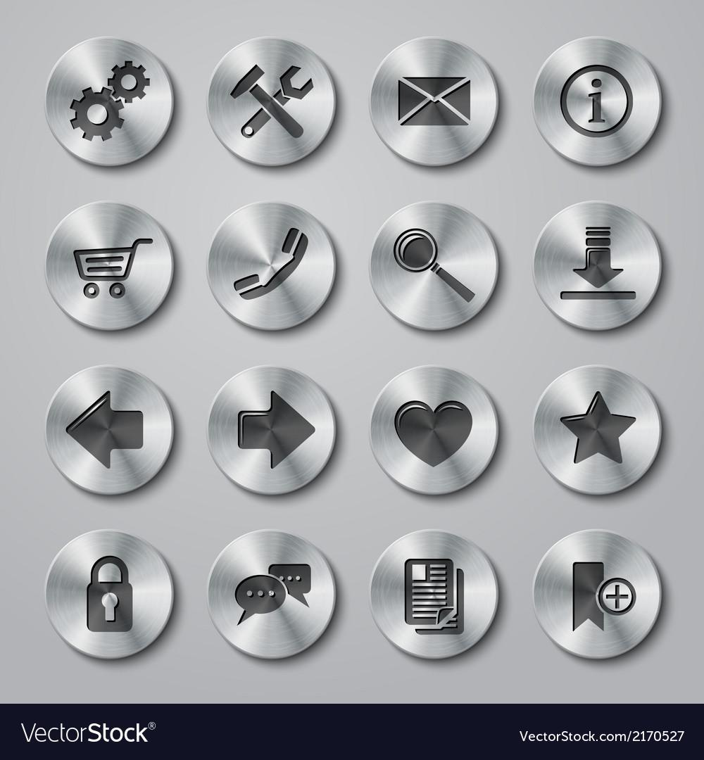Website Icons Metal vector image