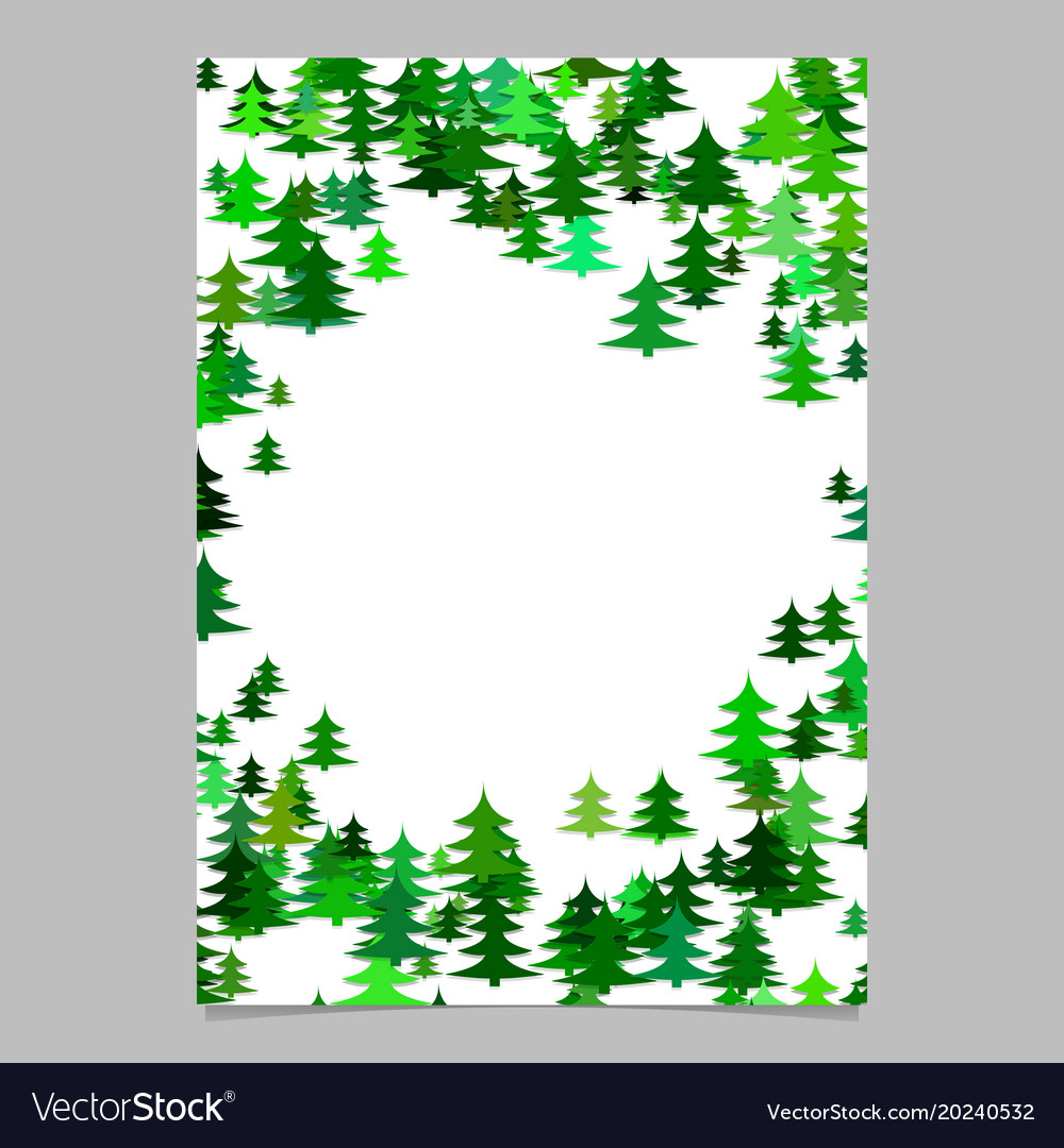 Abstract random seasonal pine tree design