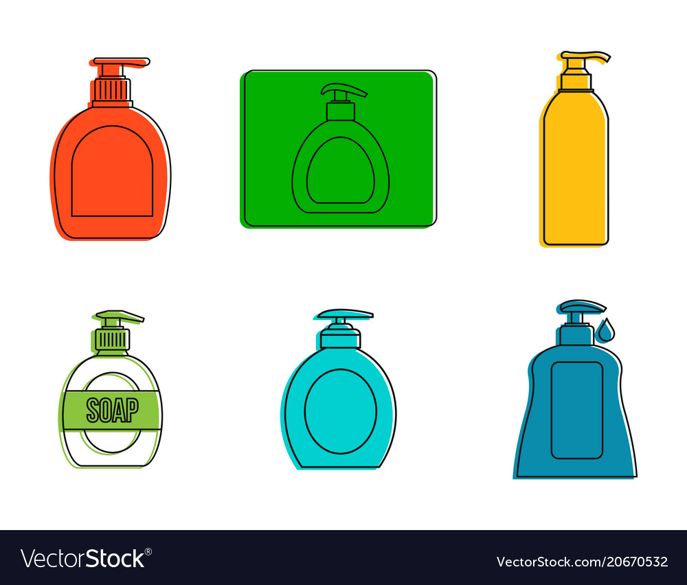 Dispenser icon set color outline style