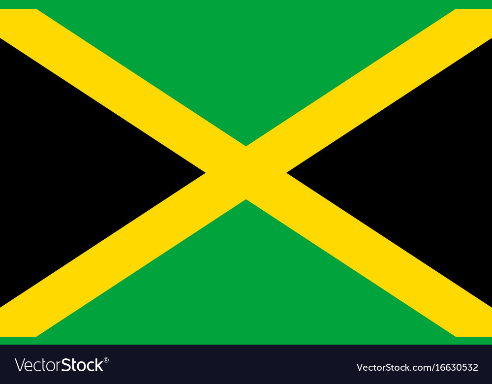 Flag jamaica flat icon vector image