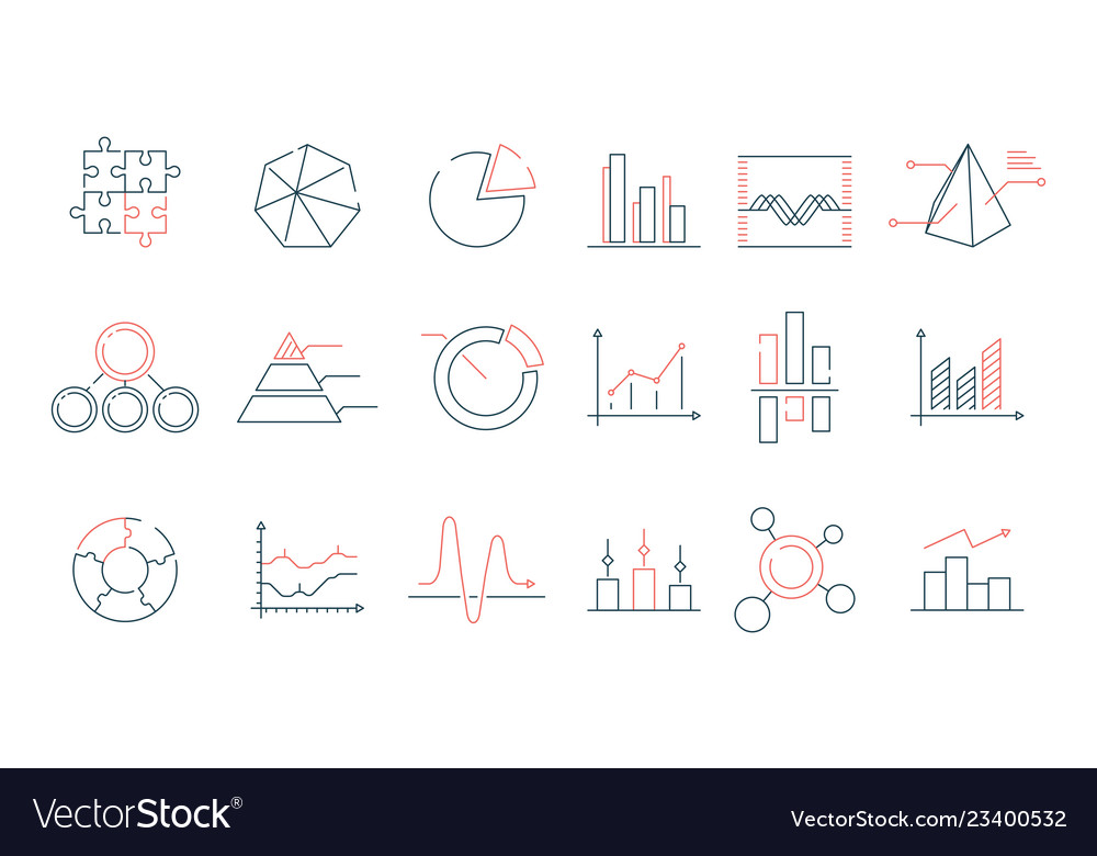 Graphs statistics icon financial business charts