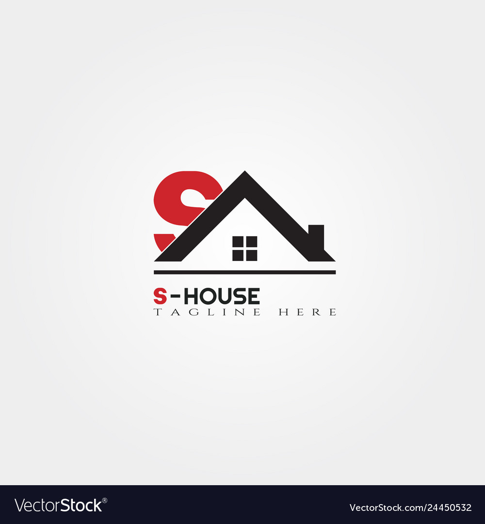 House Icon Template With S Letter Home Creative