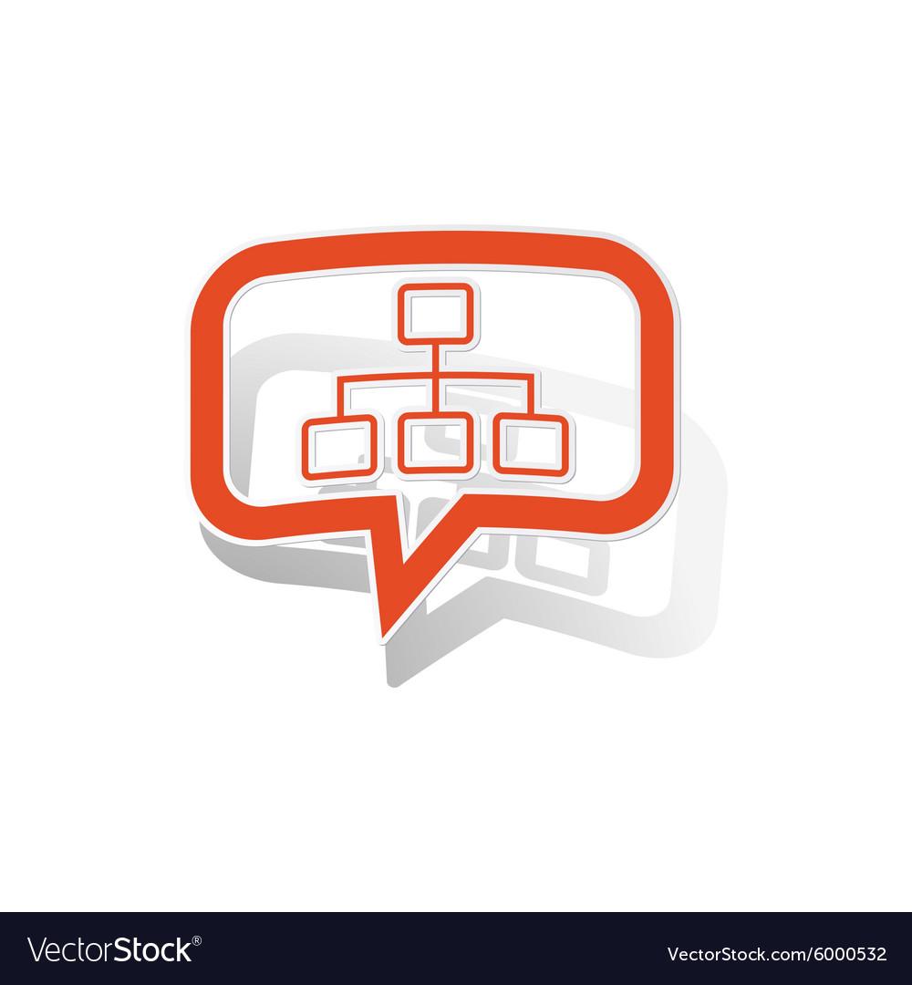 Scheme message sticker orange