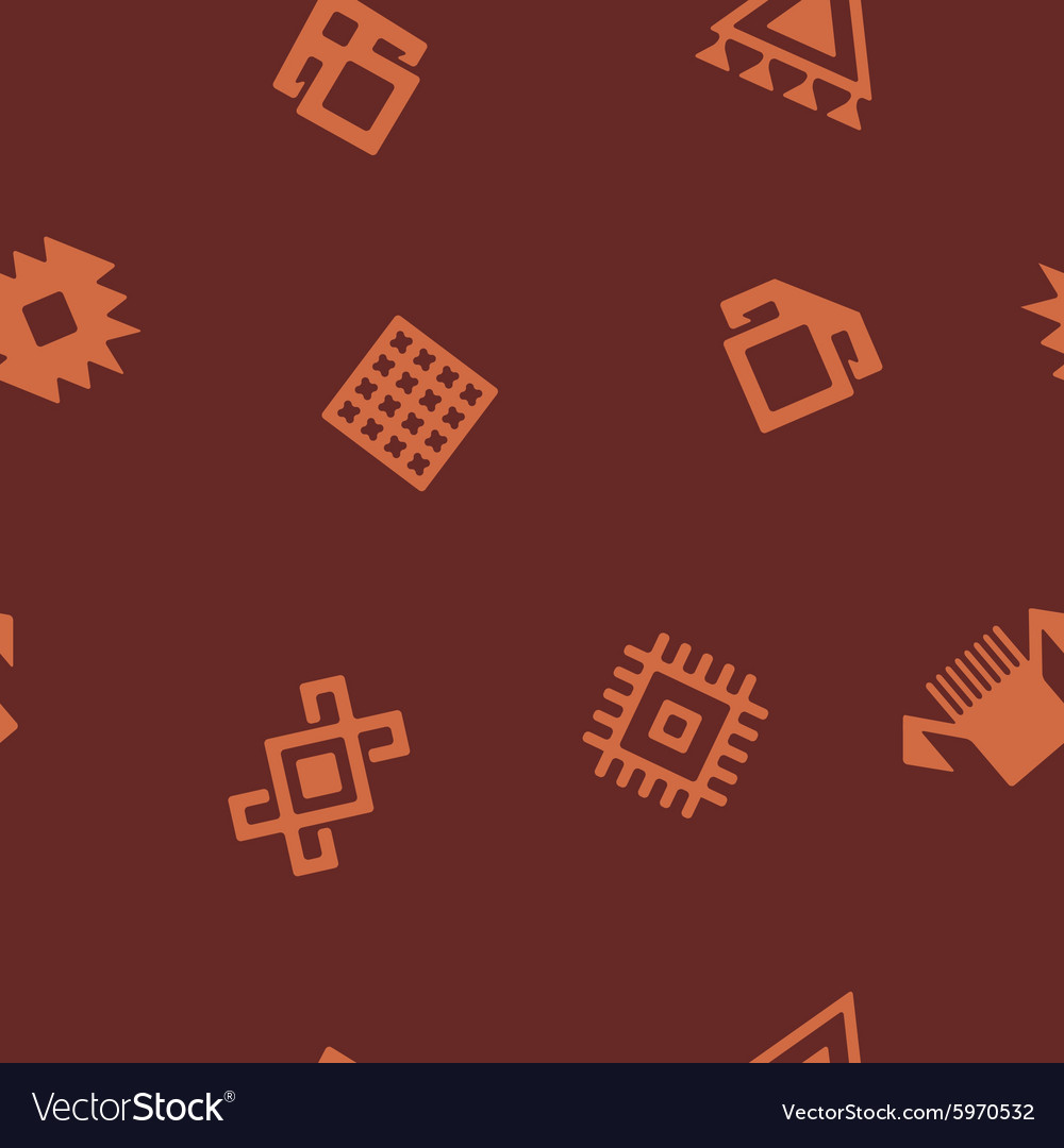 Seamless background with Persian ethnic symbols