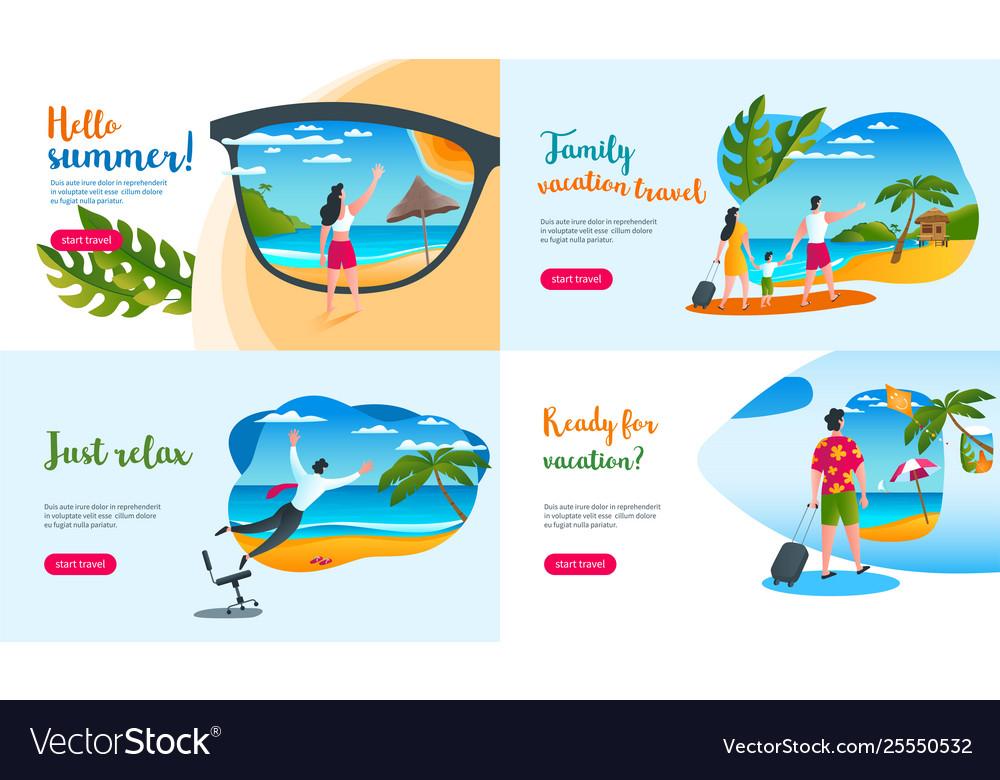 Summer vacation concepts