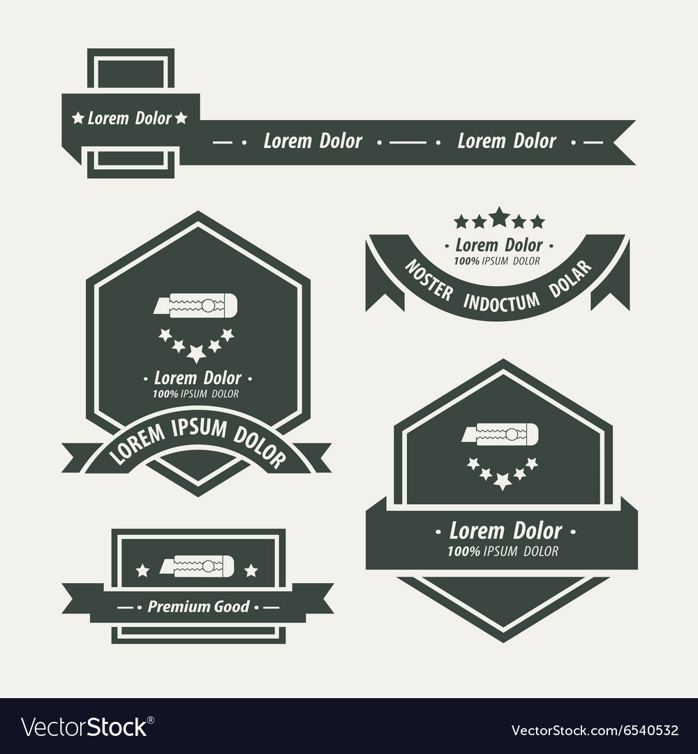 Utility knife Label And Ribbon template Royalty Free Vector