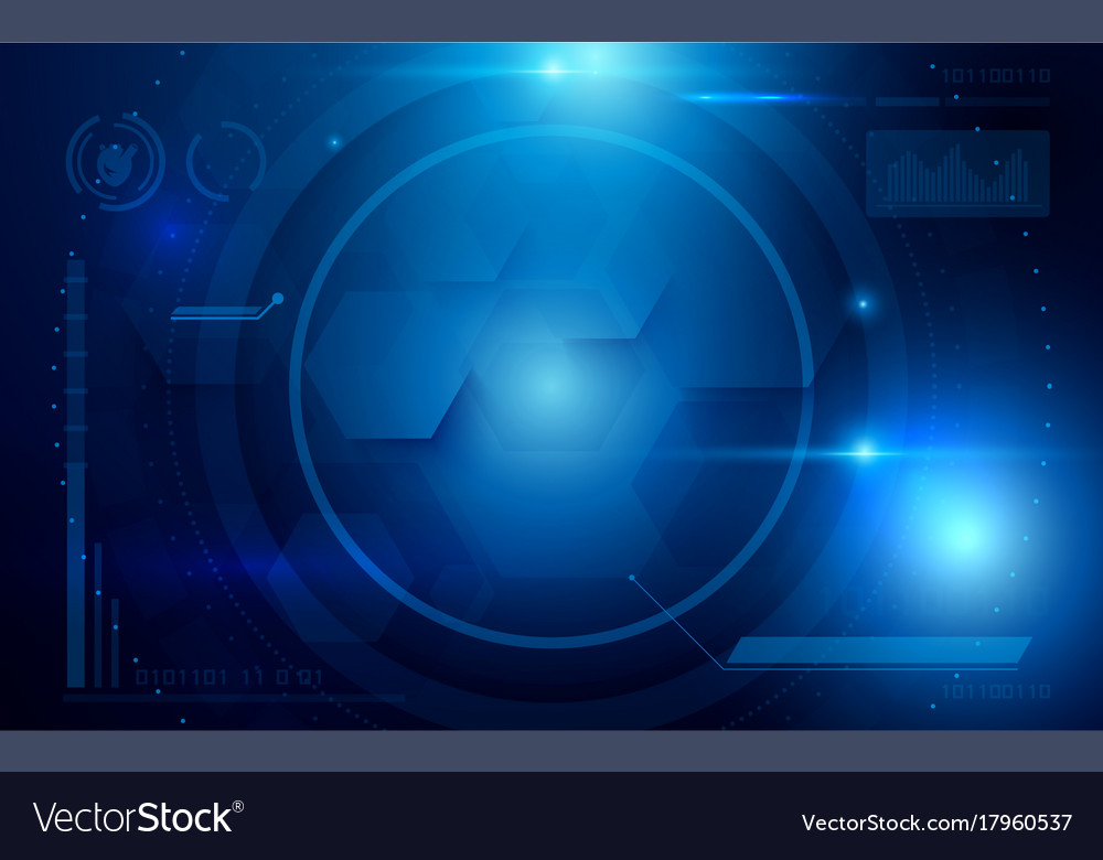 Abstract interface virtual future technology