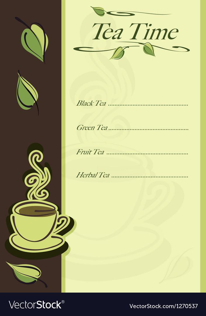 Cafe or restaurant card vector image