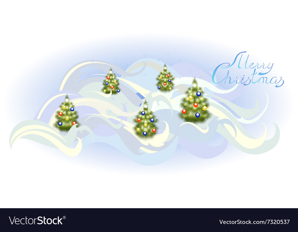 Card with Christmas trees EPS10