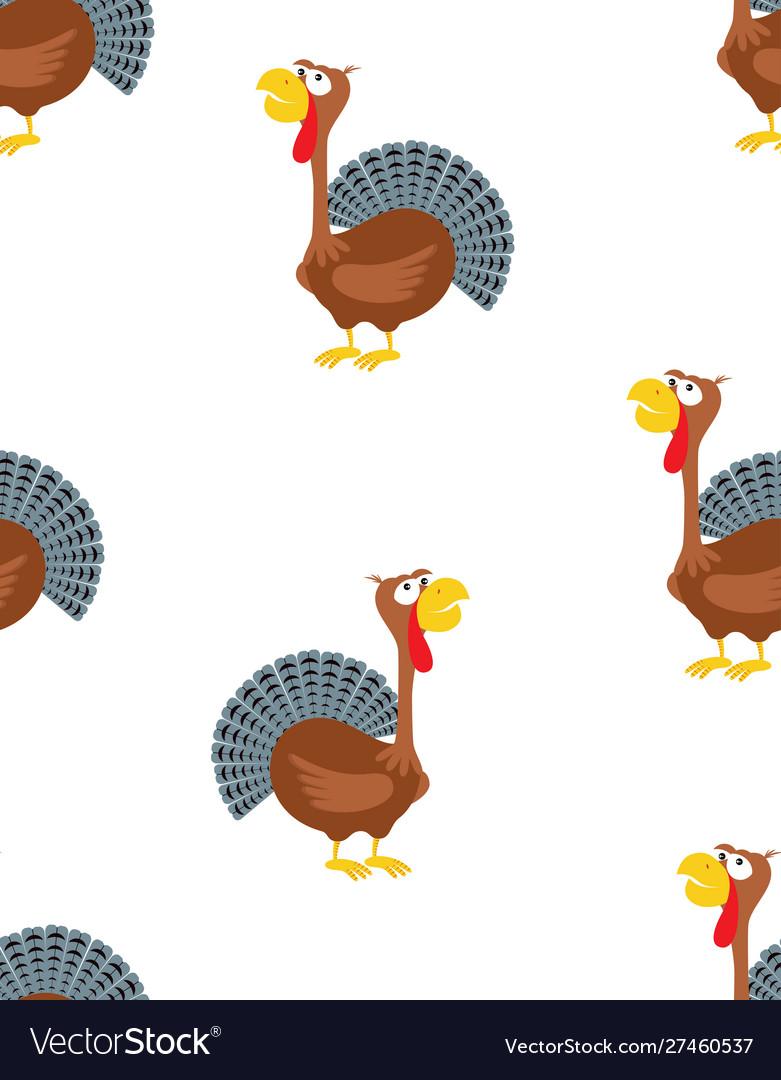 Cartoon funny turkey pattern