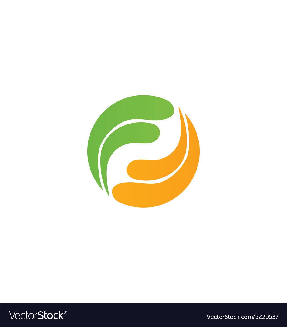 Circle rotation balance technology logo