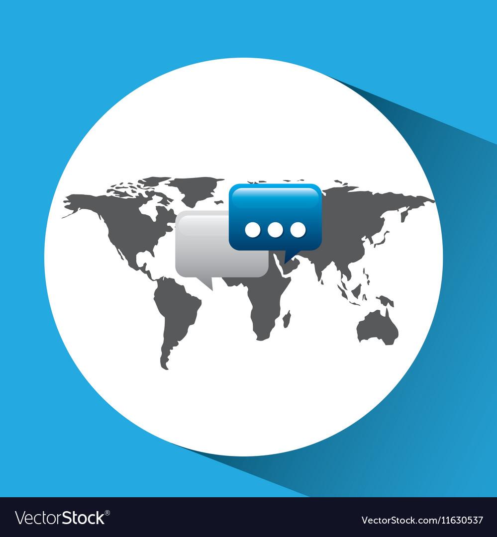 Concept globe chat speech social media
