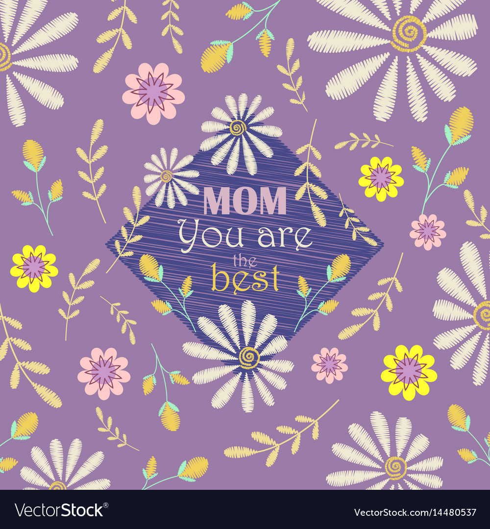 Greeting card design to mothers day
