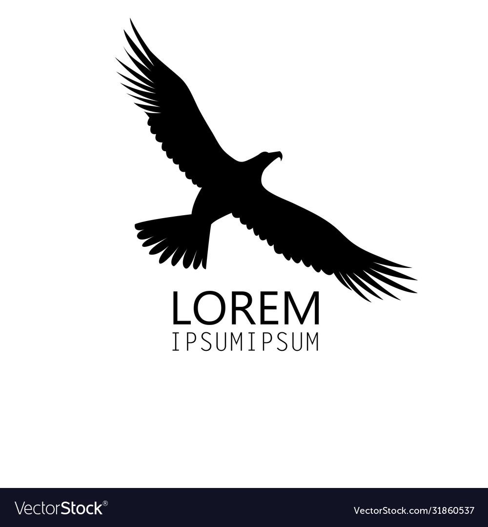 Icon a black eagle