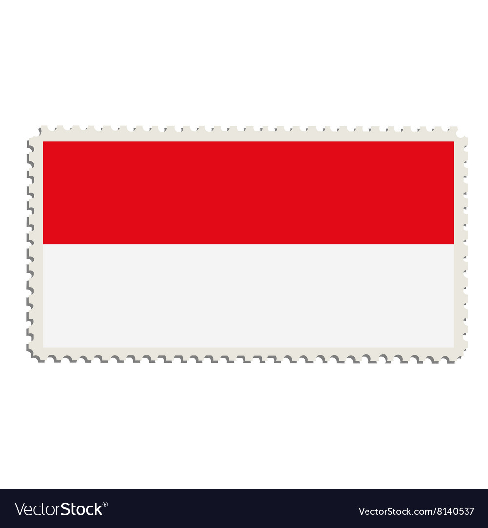 Indonesian flag post