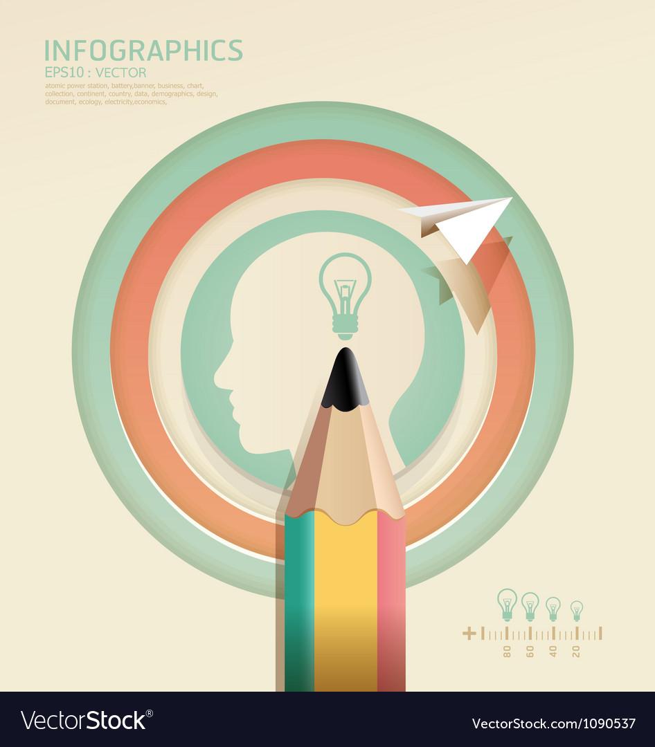 Infographics Creative pencil Template concept