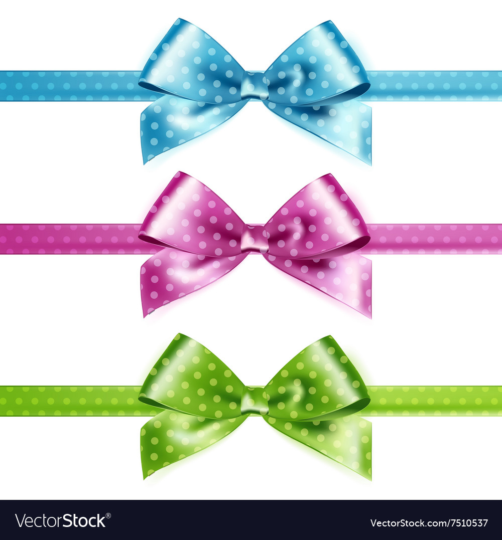 Set of isolated pink green and blue vector image