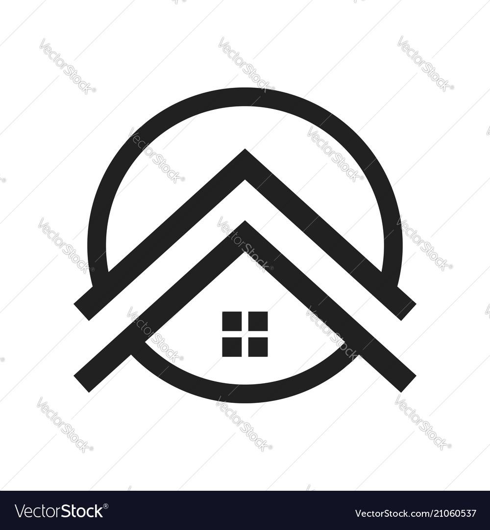Upscale Housing Symbol Logo Design