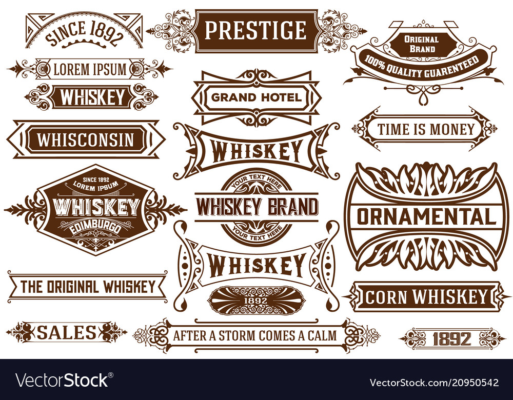 19 banners set western style