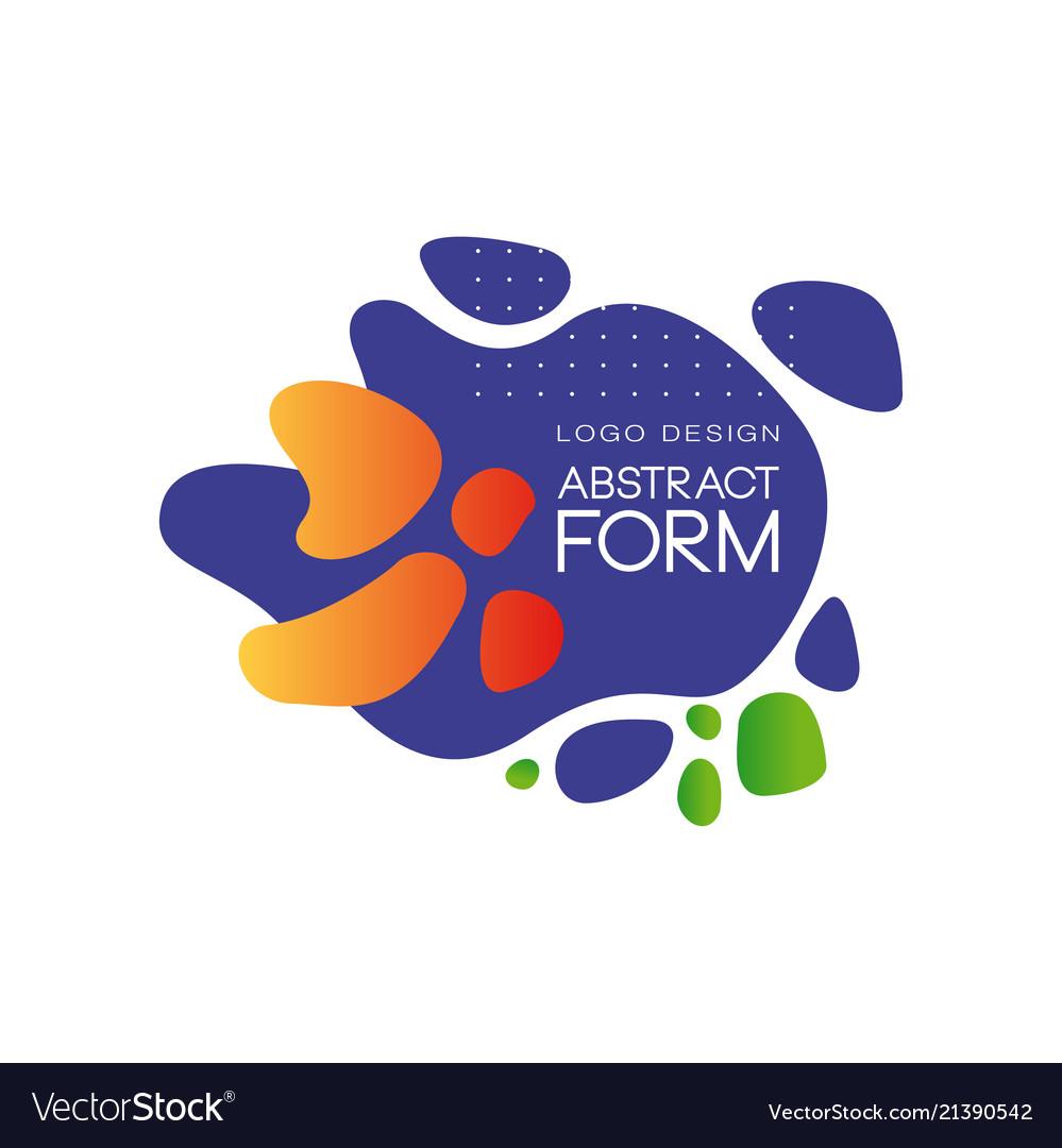 Abstract form logo design brand identity element