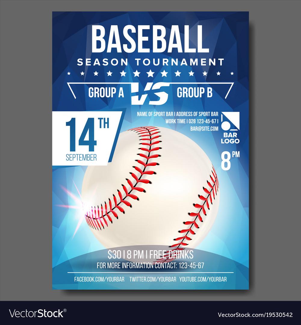 Baseball poster banner advertising sport