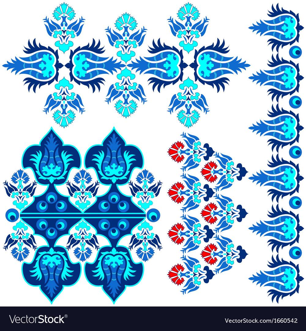 Blue ottoman serial patterns eight