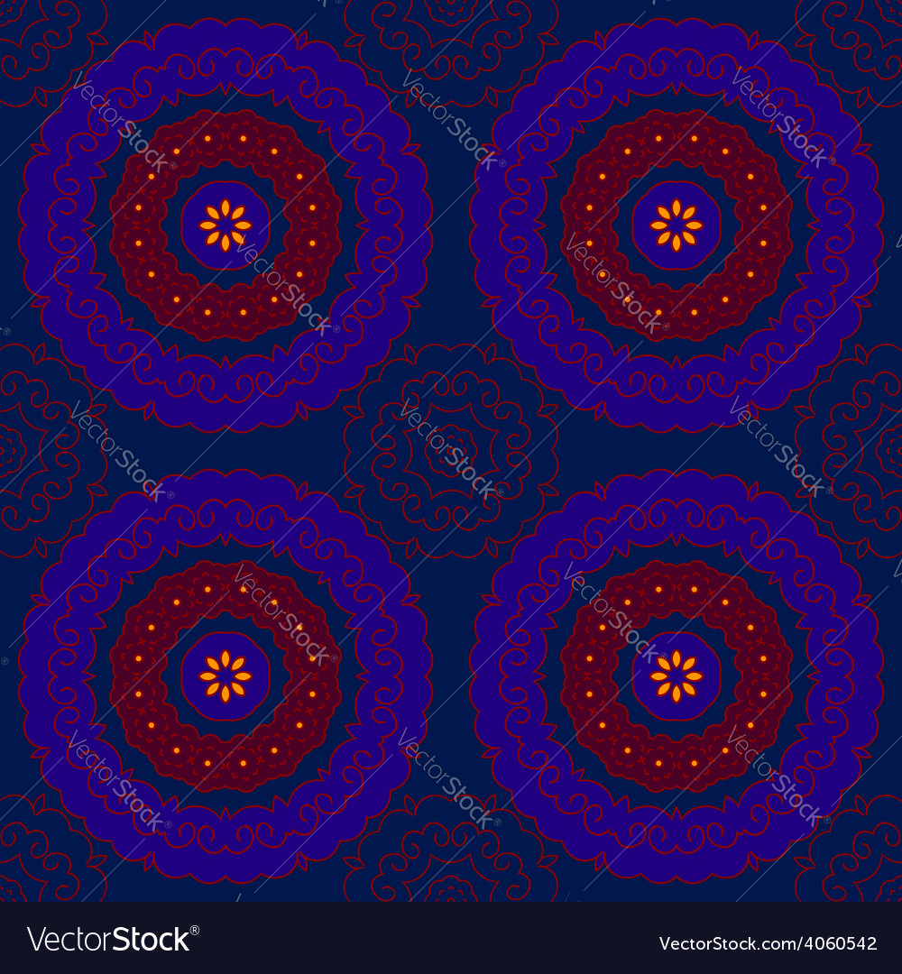 Circle pattern indian blue