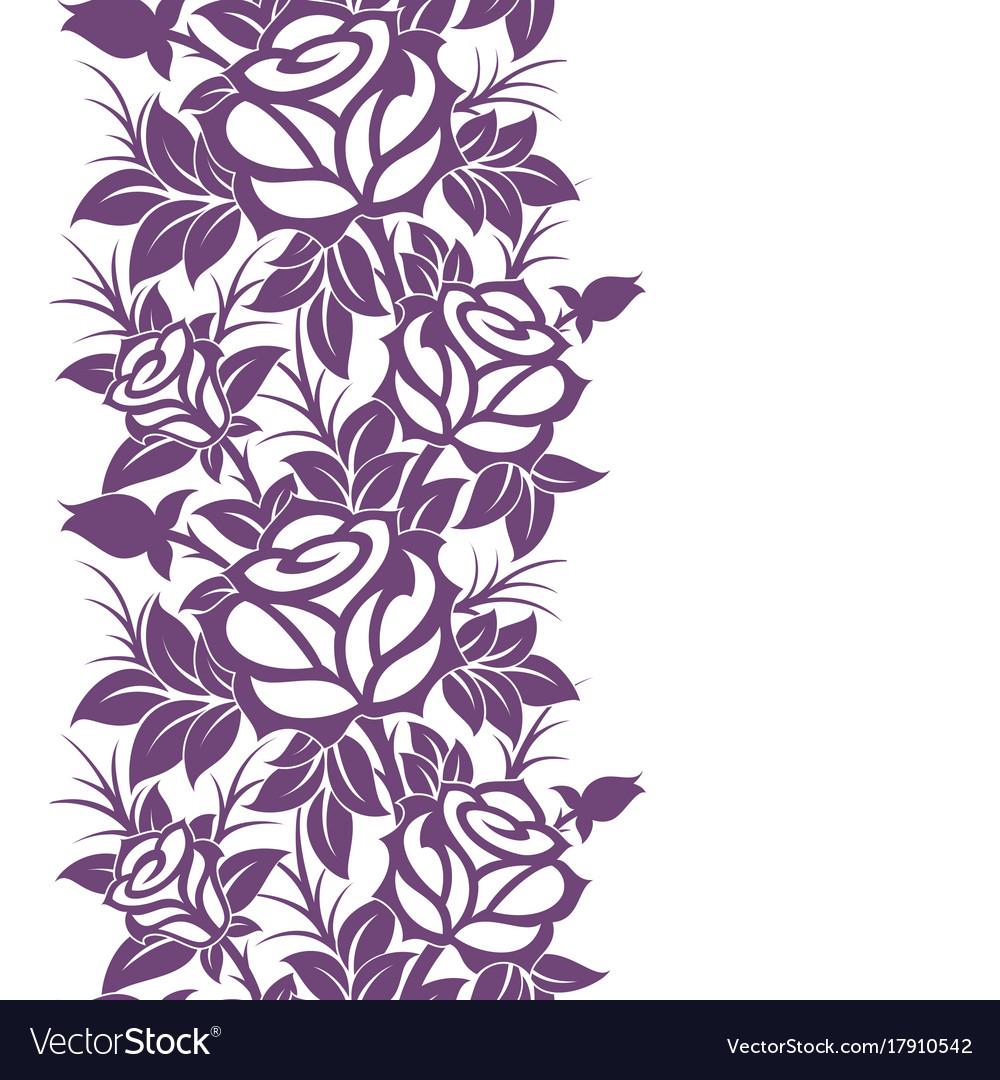 Decorative Vertical Floral Border Royalty Free Vector Image