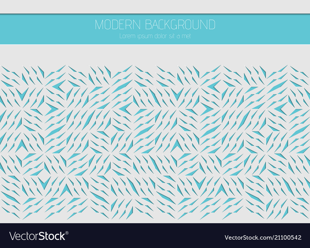 Decorative white card for cutting abstract blue