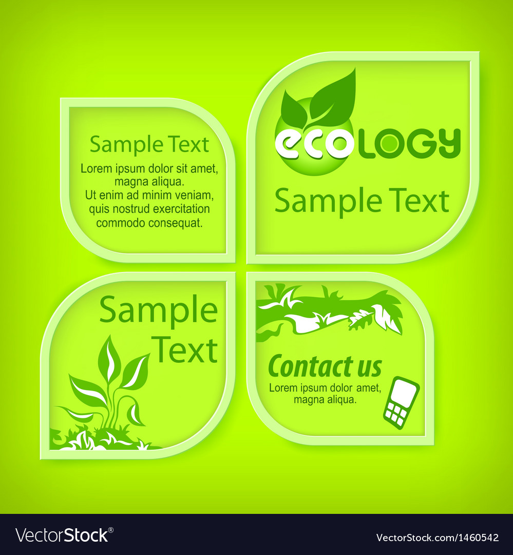 Ecological green banners vector image