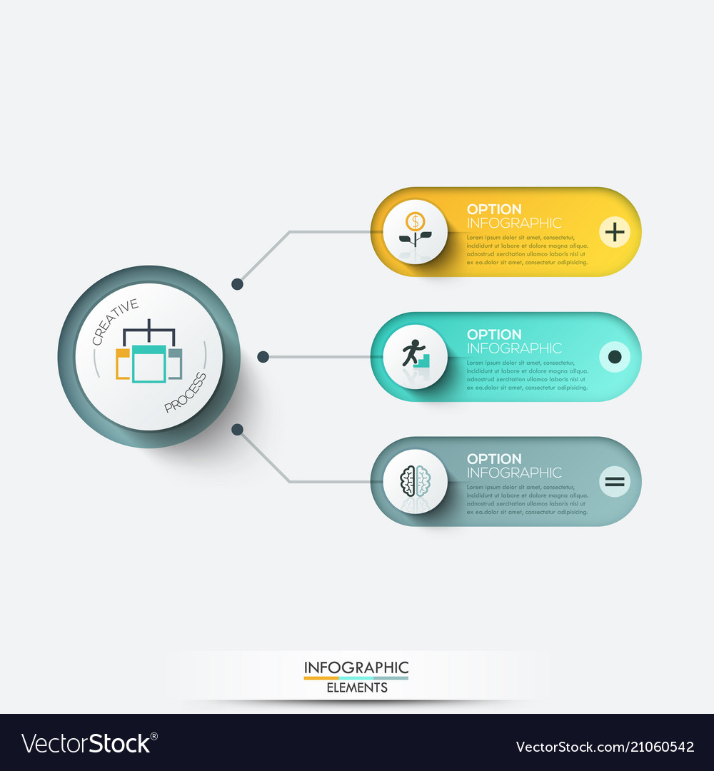 Elements for infographic template for